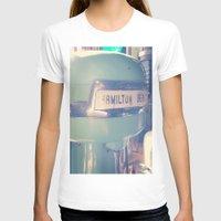 tiffany T-shirts featuring Tiffany Blue Hamilton Beach by Redhedge Photos