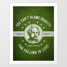 Albert Einstein - Green Art Print