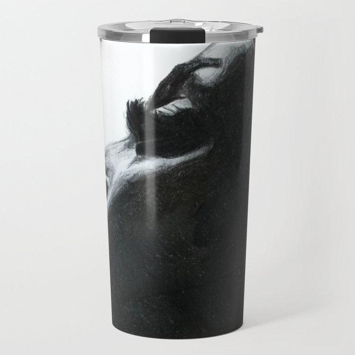 Black Woman Travel Mug