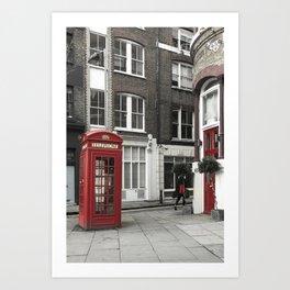 Red is everywhere london street england Art Print