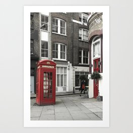Red is everywhere london street england Art Print