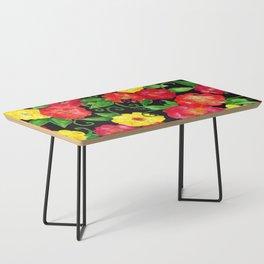 Vintage Wallpaper Black Coffee Table