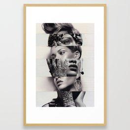 Rhianna the cut-up Framed Art Print