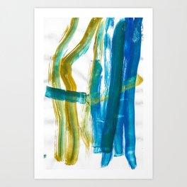 Cohesion Energy Lightroom Watercolor Art Print