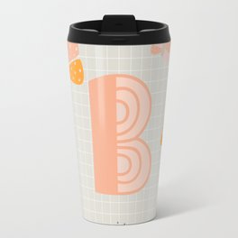 Letter B - Butterfly - Monogram Travel Mug