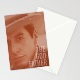 The Godfather, Alternative Movie Poster, Al Pacino, Marlon Brando, classic film Stationery Cards