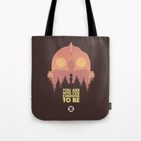 iron giant Tote Bags featuring I love you Giant by VineDesign