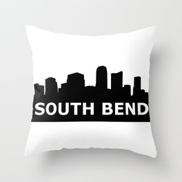 South Bend Skyline Throw Pillow