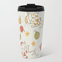 Christmas Cats Travel Mug