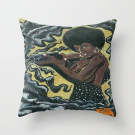 Bad Girls of Motion Pictures #2 - Coffy Throw Pillow