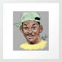 fresh prince Art Prints featuring Fresh Prince by Jackie Bran