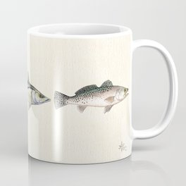 """Inshore Slam!"" by Amber Marine ~ Redfish, Snook, & Trout Watercolor Illustration, (Copyright 2013) Coffee Mug"