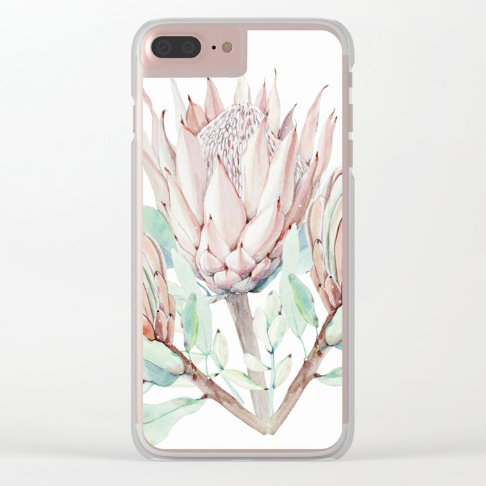 Protea #society6 #buyart Clear iPhone Case