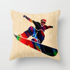 Snowboard Throw Pillow