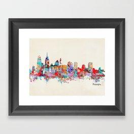 Philadelphia Pennsylvania skyline Framed Art Print