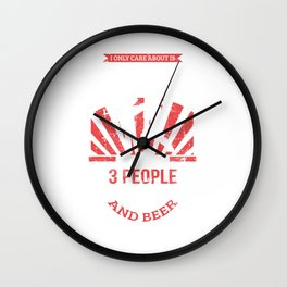 I Only Care About Kickboxing, 3 People, Beer Wall Clock