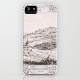 View of the Mount of Olives, from Malerische Ansichten aus dem Orient, gessamelt auf der Reise Sr. H iPhone Case