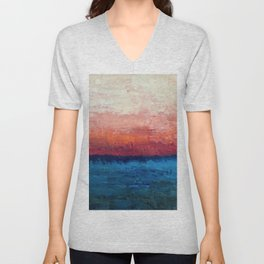 Abstract painting, Ocean Unisex V-Neck