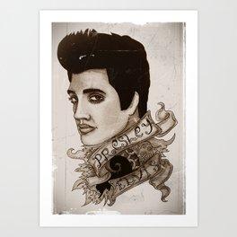 The King of Rock 'n' Roll (Elvis Presley) Art Print