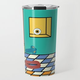 double-floored teal face room no. 2 Travel Mug