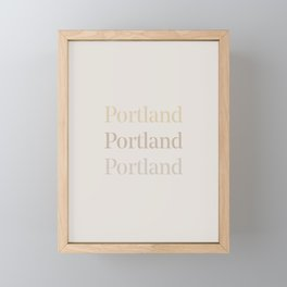 Portland Framed Mini Art Print