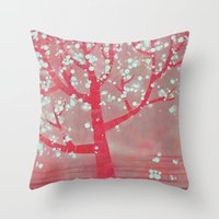 blossom Throw Pillows featuring Blossom by Nic Squirrell