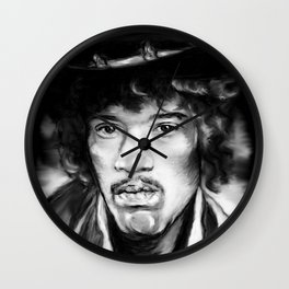 Jimmy in Black and White Wall Clock
