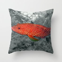 Red Coral Cod Throw Pillow