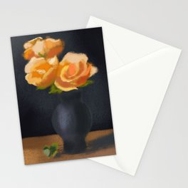 Pastel Painting Roses Stationery Cards