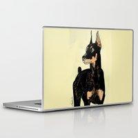 doberman Laptop & iPad Skins featuring Doberman by Cassandra Jean