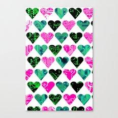love circuit, Colors set 3 Canvas Print