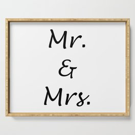 MR. & MRS. Serving Tray