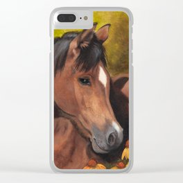 Little Brown Filly Clear iPhone Case