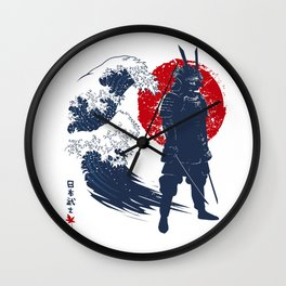 Wave Samurai Wall Clock