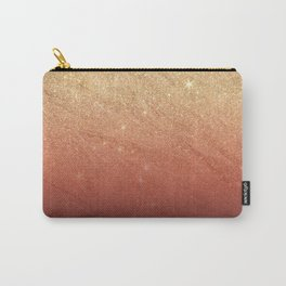 Elegant gold faux glitter chic marsala red gradient pattern Carry-All Pouch