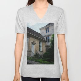 Country Cottage - Cotswolds - Study II Unisex V-Neck
