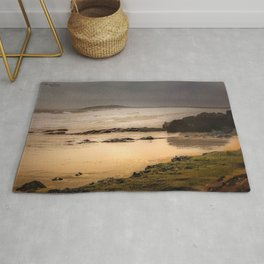 Stormy Day At Gallows Beach Rug
