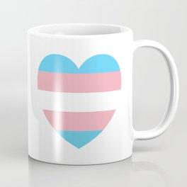 Trans Pride Heart Coffee Mug