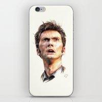 david tennant iPhone & iPod Skins featuring David Tennant by Darina Nossova