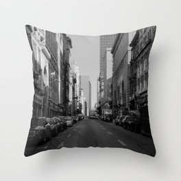 Mornings in Old Montreal Throw Pillow