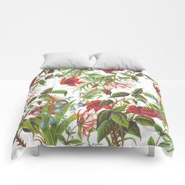 Ruby & Cerulean Floral Comforters