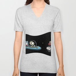 Range anxiety electric spaceship alien Unisex V-Neck