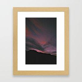 red in the sky Framed Art Print