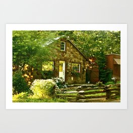 Country Cottage Art Print