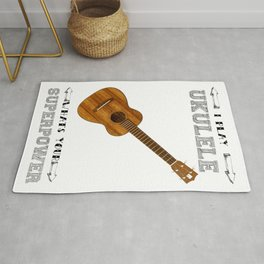 I Play Ukulele, Whats your Superpower? Rug
