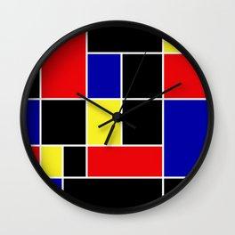 Mondrian #49 Wall Clock