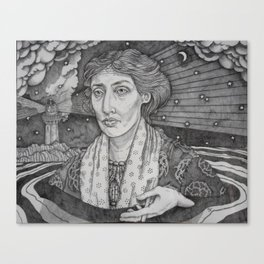 Women in Water: Virginia Woolf Off the Isle of Skye Canvas Print