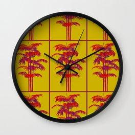 Sunny palms Wall Clock
