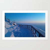 Cold winters day in Stockholm, Sweden Art Print