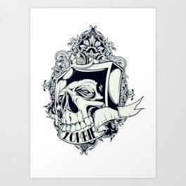Zombie mask Art Print
